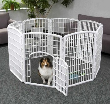 IRIS Indoor/Outdoor Plastic Pet Pen - Puppy playpen