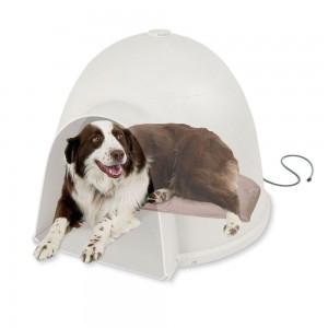 Lectro-Soft Igloo Style Heated Dog Bed - Best Heated Orthopedic Dog Bed