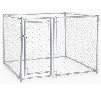 Lucky Dog Galvanized Chain Link Kennel - best outoor dog kennel - 1