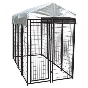The Lucky Dog Uptown Welded Wire Dog Kennel With Cover 1