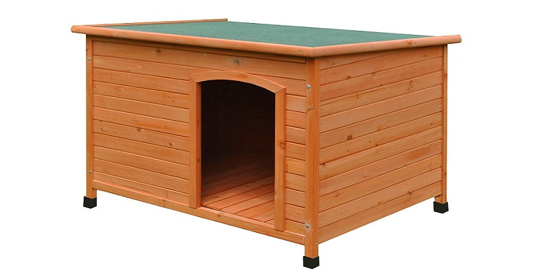 ALEKO® DH46X31X31WD Large Weatherproof Dog Kennel Pine Pet Shelter with Elevated Floor 46 X 31 X 31 Inches Review