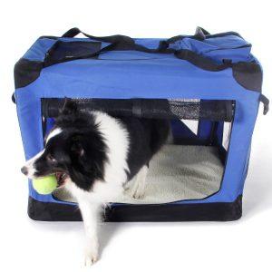 """Gocooper Dog Travel Crate,3-Door Folding Soft Dog Crates & Kennels 32"""" x 23"""" x 23""""Pet Portable Home Indoor & Outdoor Review"""