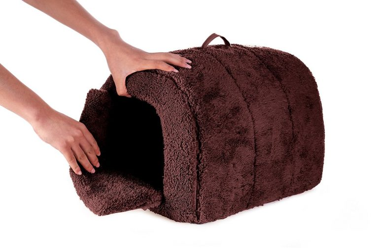 BINGPET Cat Dog Arch House Pet Bed Crate Igloo for Small Animal with Kennel Pad Review