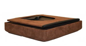 2-in-1 Foldable Pet Ottoman Great Design Foot Rest and Pet House/ Bed, For Cats and Small Dogs. Great Living Room Décor, Brown Microfiber Suede