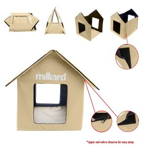 Milliard Outdoor Pet House, Easy Set Up: No Tools, for Dog or Cats; Perfect Bed Cave or Shelter, 22 x 18 x 17 in Review