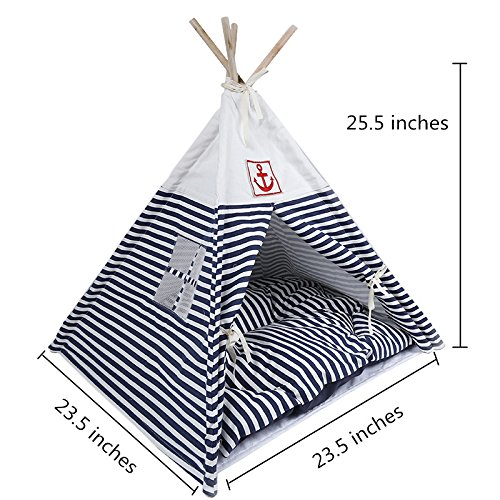 Pet Supplies Washable Durable Pet House Tent and Pet Bed Mat for Little Dogs and Cats Review
