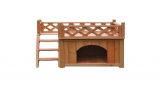 ALEKO® DH28X20X25WD Wooden Dog Kennel Cedar Pet Home Luxurious Side Steps and Balcony Pet Lounger 28 X 20 X 25 Inches Review
